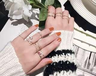 🧡 💍Bling Rings (Gold Series)