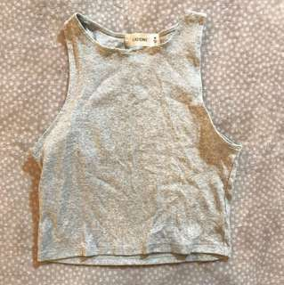 Glassons grey marle cropped tank size M