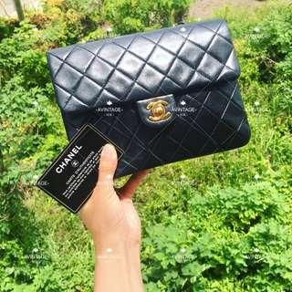 (SOLD)Chanel Vintage 黑色羊皮 Mini Flap 20cm