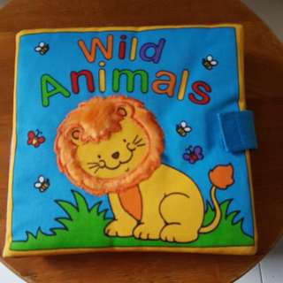Touchy Feely Cloth Book Wild Animals