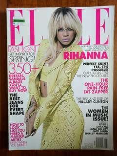 (CLEARANCE SALE : Buy 3 Get 1 Free) Vintage elle Magazine (Rihanna)