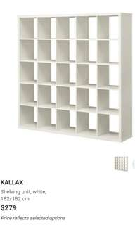 Ikea shelves (Kallar)