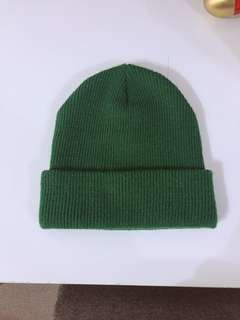 🚚 (二手保存良好)🇬🇧彈性寬鬆針織棉毛帽-綠色