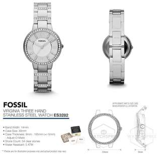 PROMO SALE -Fossil Womens ES3282 Virginia Three-Hand Stainless Steel Watch