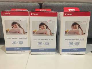 Canon Selphy CP800 4R Photo Sheets & Ink