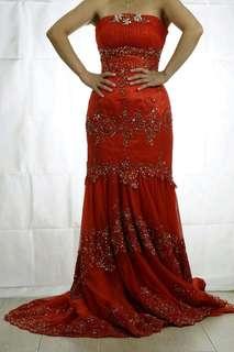 紅色 敬酒裙 婚紗 出門婚紗