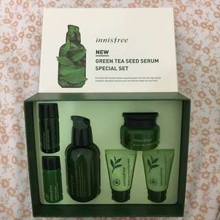 Innisfree NEW Green Tea Seed Serum Special Set