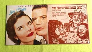 J. GEILS BAND ● JAMES GANG . love stinks /the best of. ( buy 1 get 1 free )  vinyl record