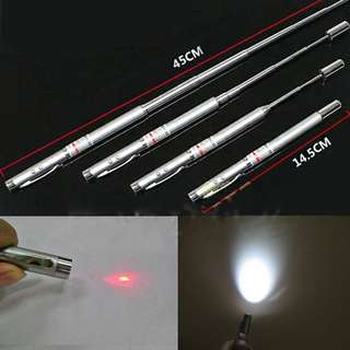 PREORDER Telescopic Teaching Pointer Pen With Laser and Light