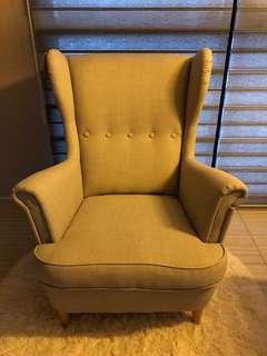 Brand new STRANDMON Wing Chair Skiftebo Light Beige