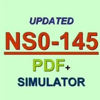 NetApps NetApp Certified Storage Associate Test NS0-145 Exam QA PDF+Simulator