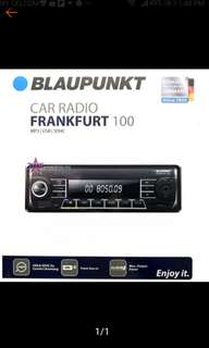 BLAUPUNKT FRANKFURT 100  MP3 USB SDHC CAR STEREO RECEIVER (NO CD) 4x40 WATTS