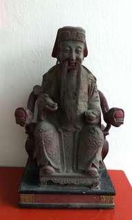 Old Wood Statue 老大伯公木雕像