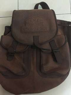 Vintage Camel trophy adventure backpack (leather)
