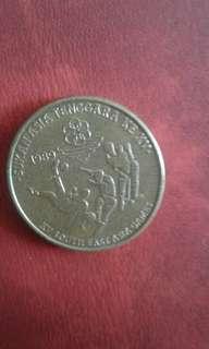 Old Coin Rm5 suKan Asia XV 1989 BLESS1NG