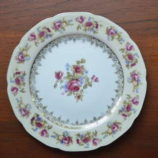Vintage small plate, 7.4 in, Hostess made in Japan