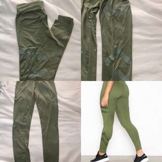 Khaki 'aimn' tights size 8-10