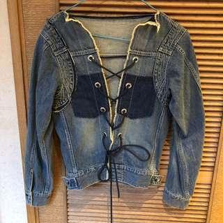 Sacai denim jacket top