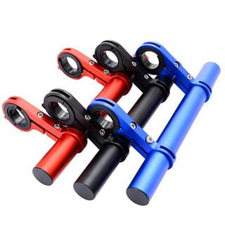 Dual Clamp Extension Aluminium Alloy / Kiddy Bar / Blue Red Black, 200mm