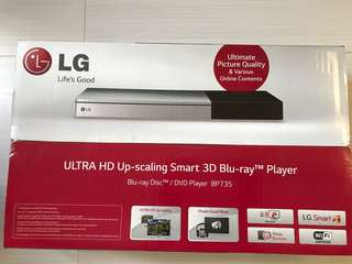 LG Smart 3D Blu-ray™播放機 BP735