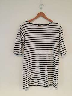 Topshop striped long sleeve tunic
