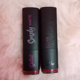 Detail Makeover Simply Matte Lipstick