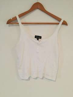 Topshop button crop singlet