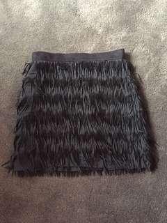 Black tasseled skirt