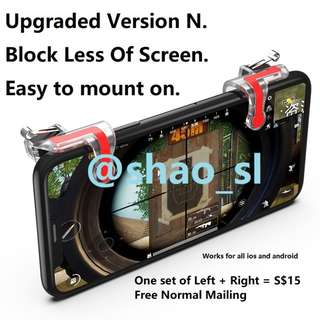 🚚 PUBG Mobile / ROS Controller / Trigger Button / L1R1 *Newest Version* *Instock* Version N