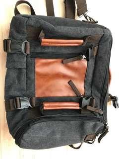 2 way canvas backpack messenger slingbag
