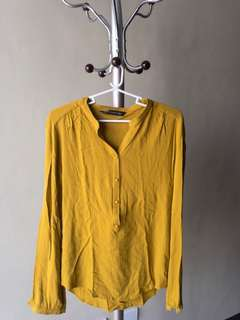 [BLOUSE] ZARA yellow blouse fits US Med