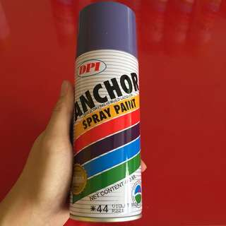 Used Anchor spray paint violet blue