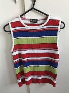 Guess USA vintage striped tank knit top