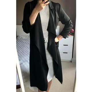 NEW WITH TAGS 'The Moon' long line black trench coat sz S (AU 8)