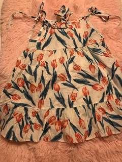 🚚 💠現貨全新女童綁帶花朵洋裝👗甜甜價💠