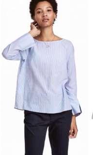 LOGG by H&M striped long sleeve top EU 42