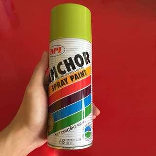 Used Anchor spray paint green lime