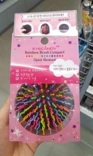 Authentic Eyecandy Rainbow Brush Compact