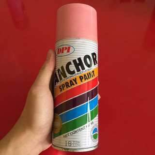 1 time used Anchor spray paint pink