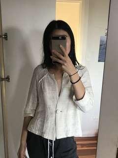 Cue button blouse