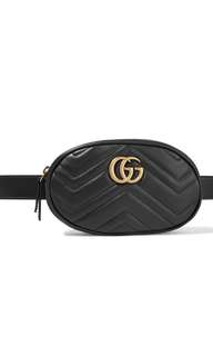Gucci black waistbag 90-95% new