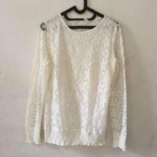 Broken White Lace Top | Broken White Lace Blouse
