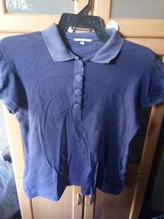 Kashieca Blue Blouse   Mejo Stretchy   M-L (kahit XL nasa tag)