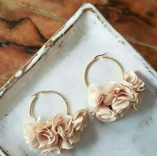 Eunice Floral Loop Earring