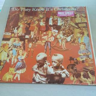 Bandaid Do They Know It's Christmas LP Vinyl record