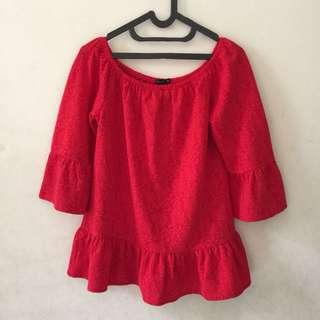 Red Off Shoulder Top | Sabrina Top