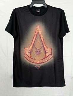 Original Assassins Creed Movie Gold Logo Black T Shirt