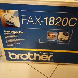 BROTHER Plain Paper Fax Machine (FAX-1820C). Brand new, never used