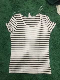 Black and white stripes t shirt by hnm