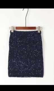 深藍色閃閃半身裙